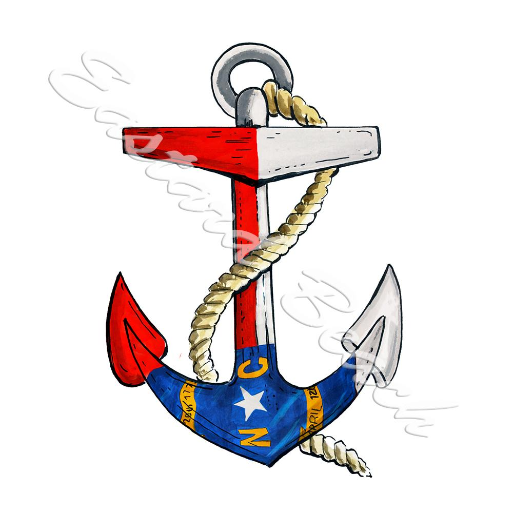 NC Flag Anchor