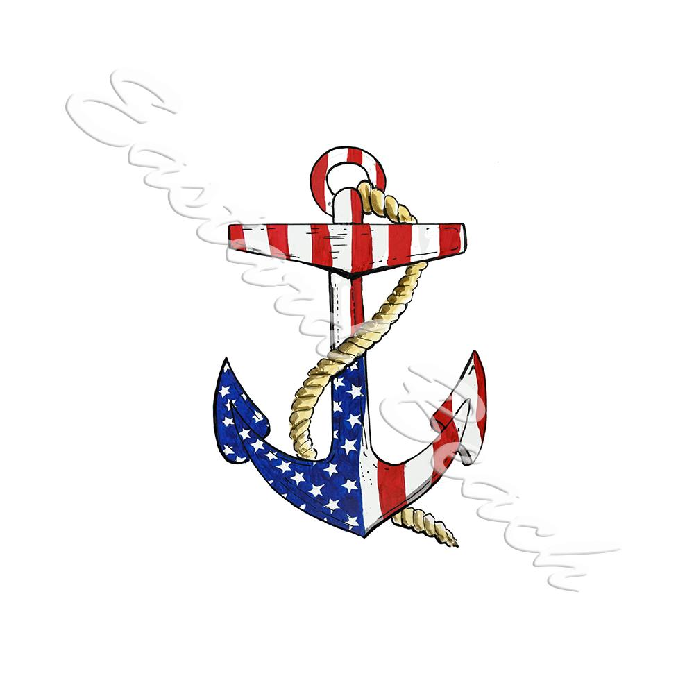 USA Flag Anchor
