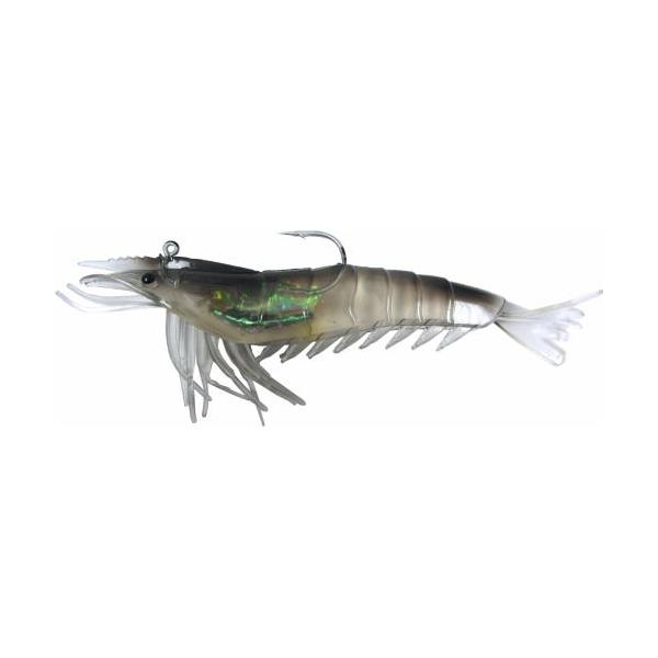 "Artificial Shrimp Rigged 6"" Black/Clear 2 Pack - Almost Alive Lu"