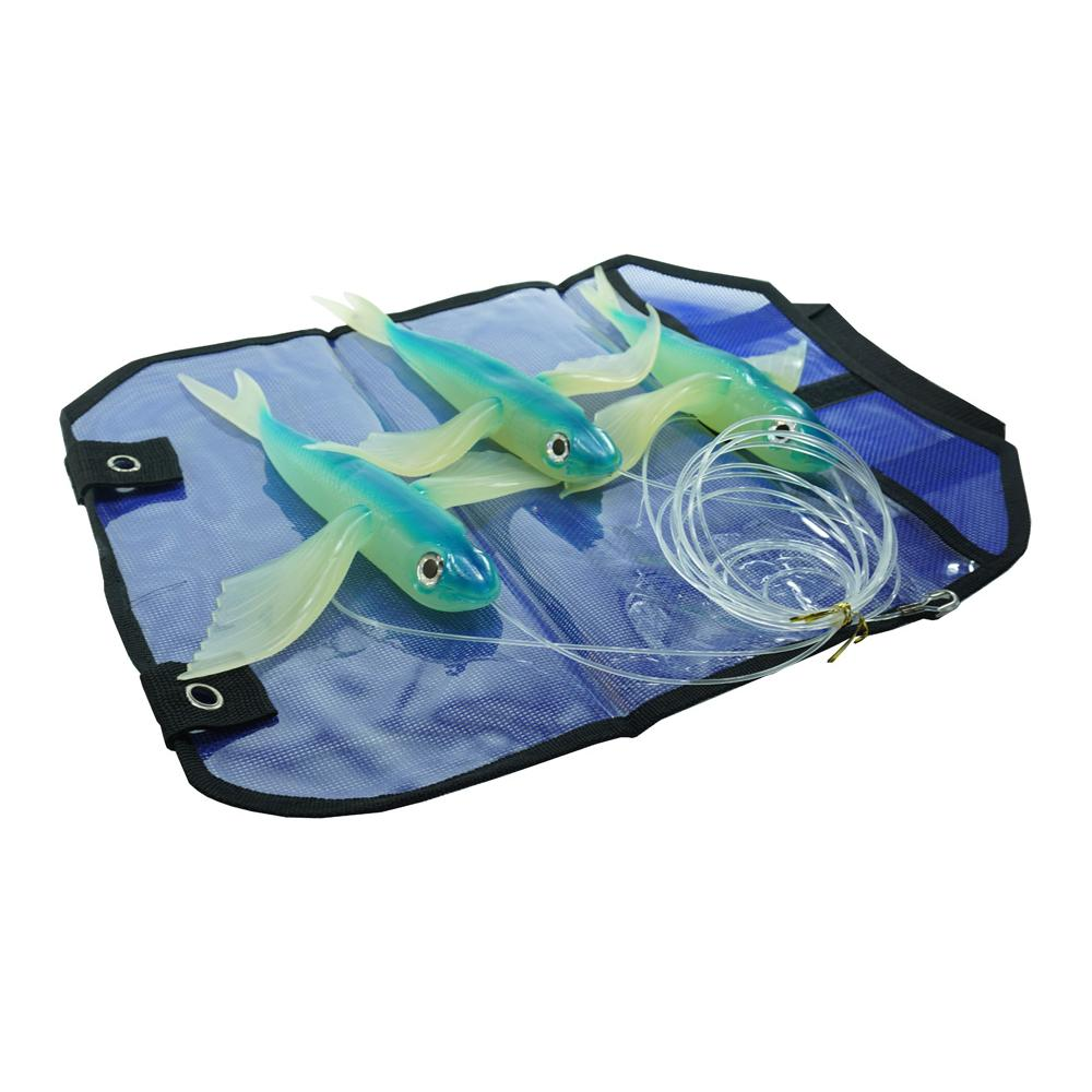 "Almost Alive Lures 10""; Flying Fish Daisy Chain Bright Blue"