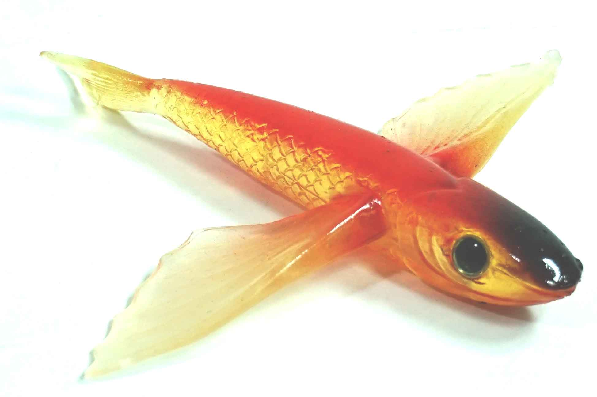 "Flying Fish Red/Clear/Black Nose 4"" - Almost Alive Lures"