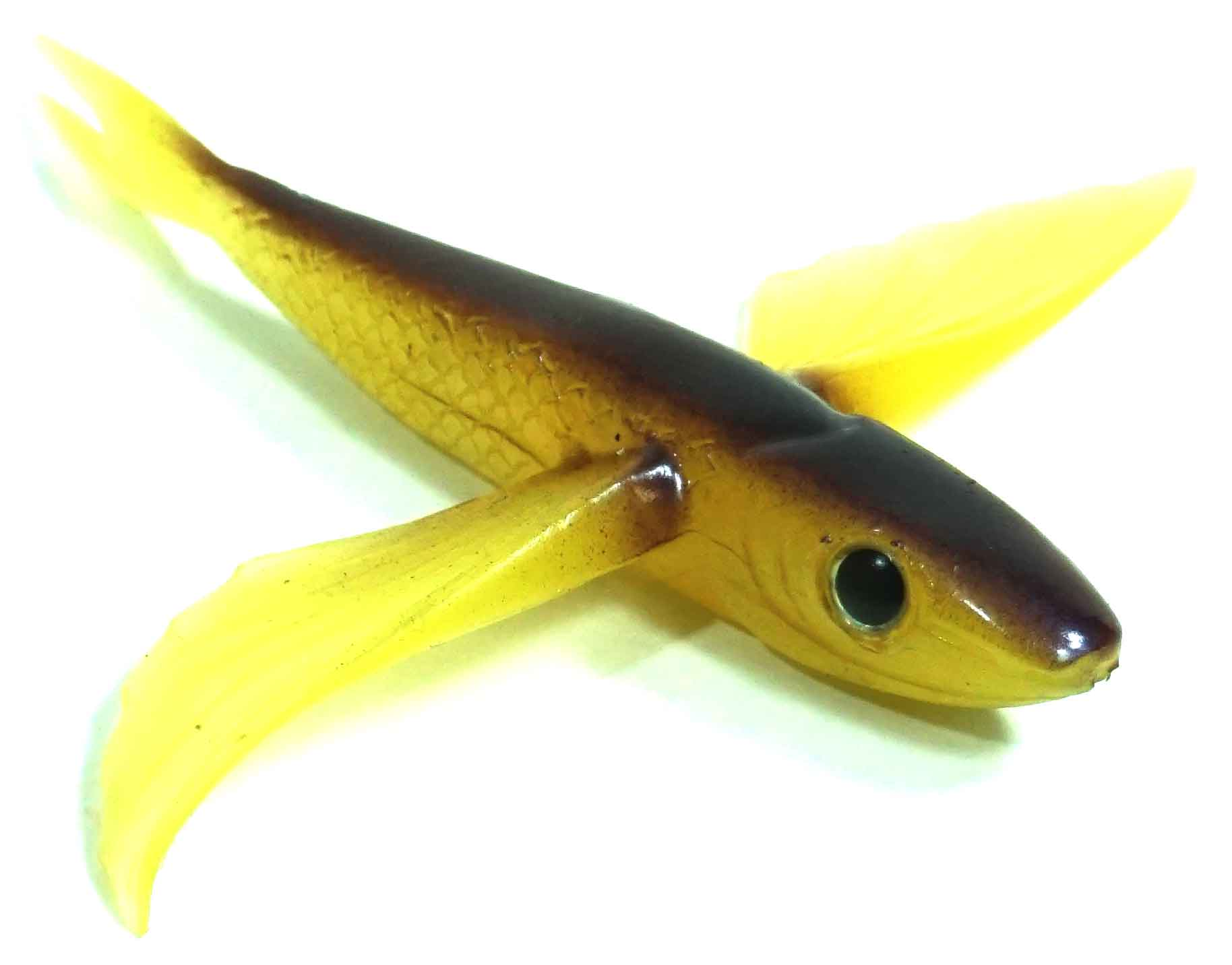 "Flying Fish Brown/Yellow 4"" - Almost Alive Lures"