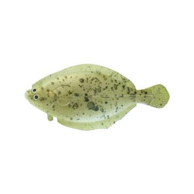 "Almost Alive Lures 3.75"" Soft Flounder Flatfish Lure Speckled"