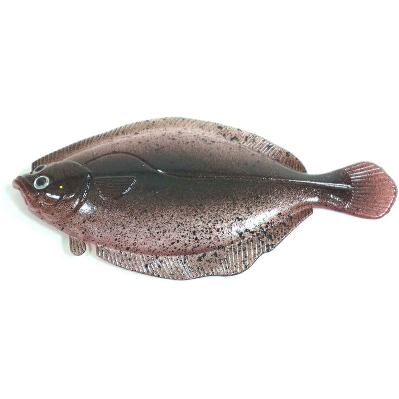 "Almost Alive Lures 3.75""; Soft Flounder Flatfish Lure Dark"