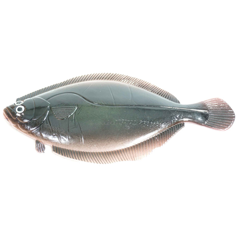 "Almost Alive Lures 8""; Soft Flounder Flatfish Lure Dark Bro"
