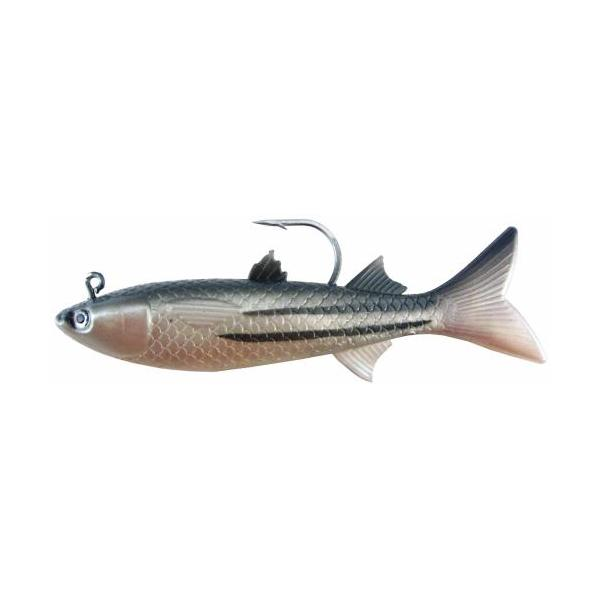 "Almost Alive 2 Pack 6"" Soft Finger Mullet Lure Striped Rigged"