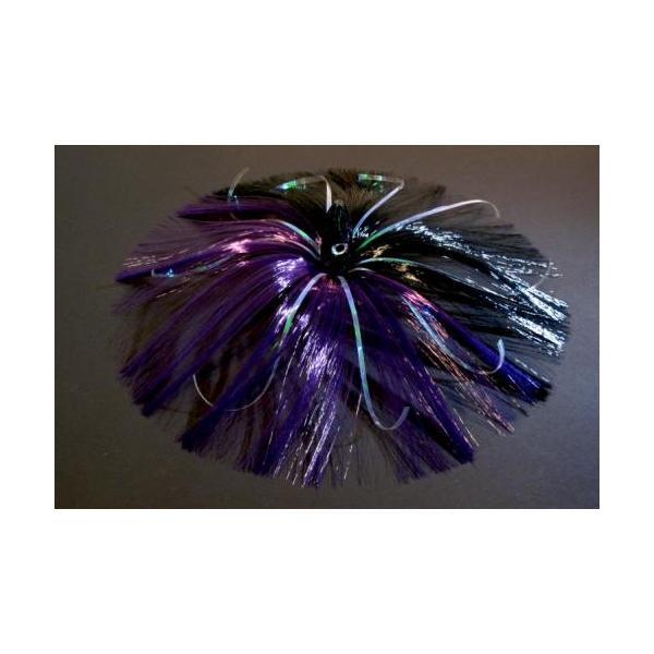 180g Black Bullet Head With Purple/black Hair With Mylar Flash