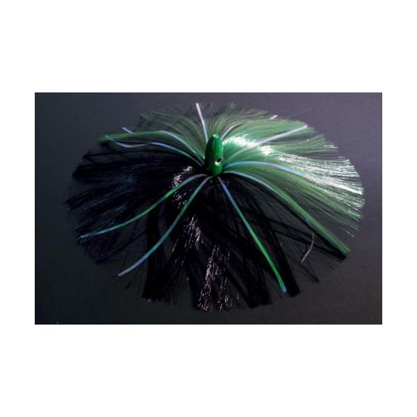 180g Green Bullet Head With Green/black Hair With Mylar Flash