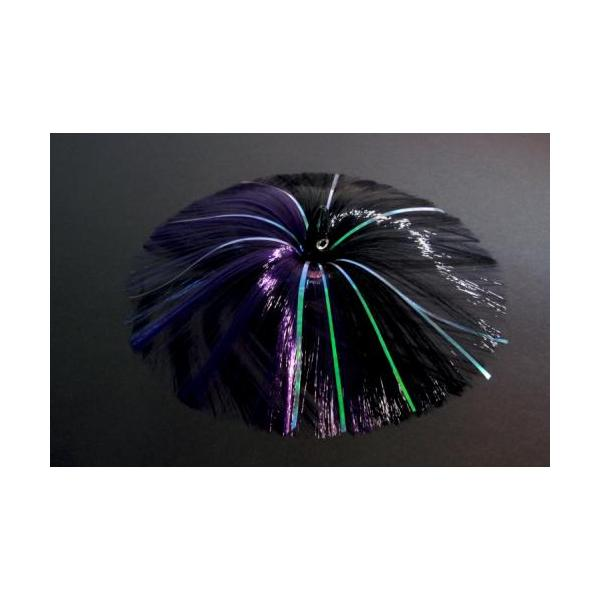 270g Black Bullet Head With Purple/black Hair With Mylar Flash