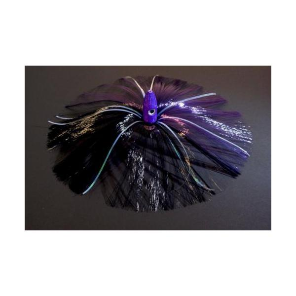 270g Purple Bullet Head With Purple/black Hair With Mylar Flash