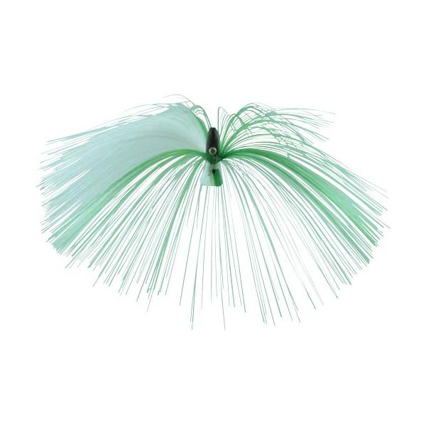 Witch Lure, Black Bullet Head, 23g, With 7 Inch Green, White Hai