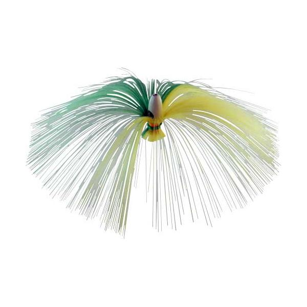 Witch Lure, Glow Bullet Head, 60g, With 7 Inch Green, White Hair