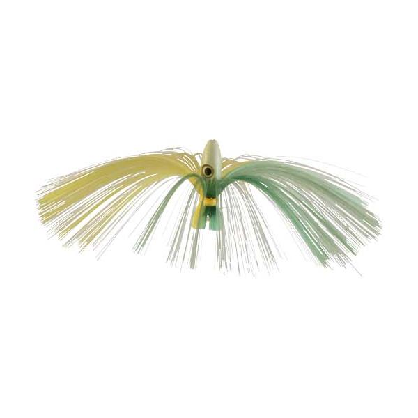 Witch Lure, Glow Bullet Head, 95g, With 7 Inch Green, Yellow Hai