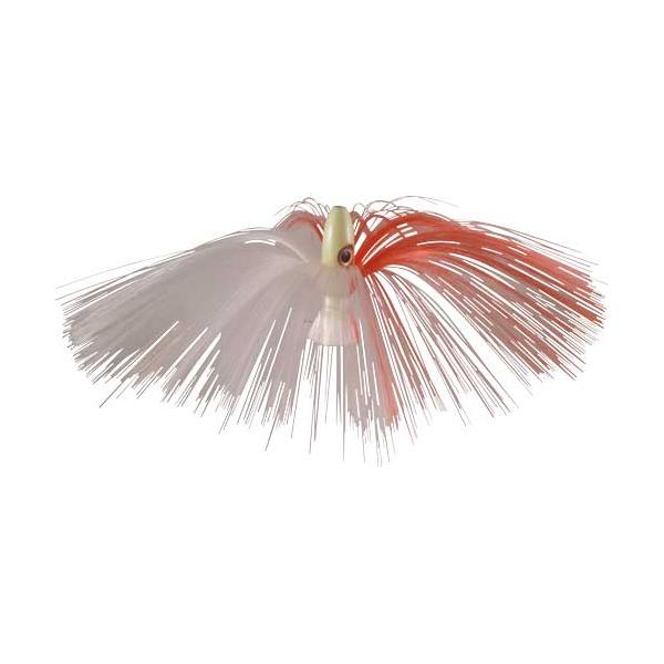 Witch Lure, Glow Bullet Head, 95g, With 7 Inch Red, White Hair