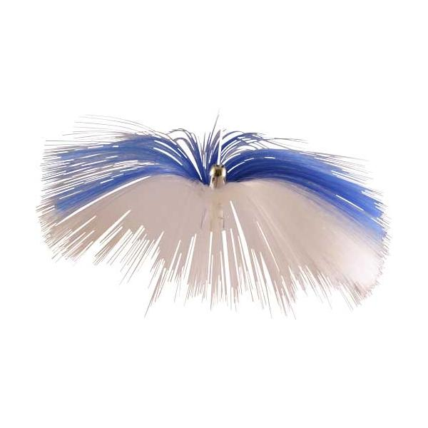 Witch Lure, Chrome Jet Head, 62g, With 6-1⁄2 Inch Blue, Wh