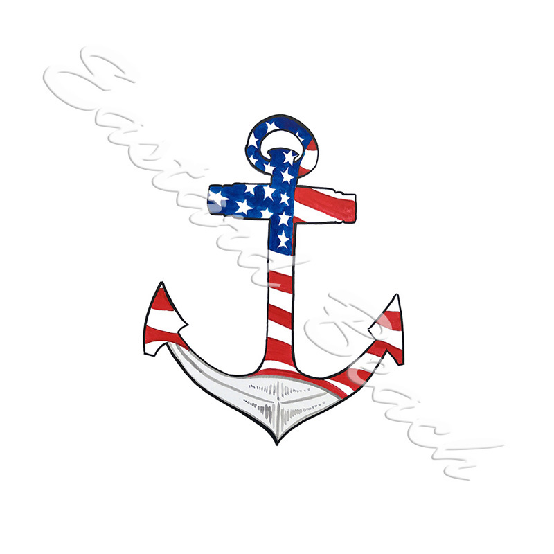 American Flag Anchor