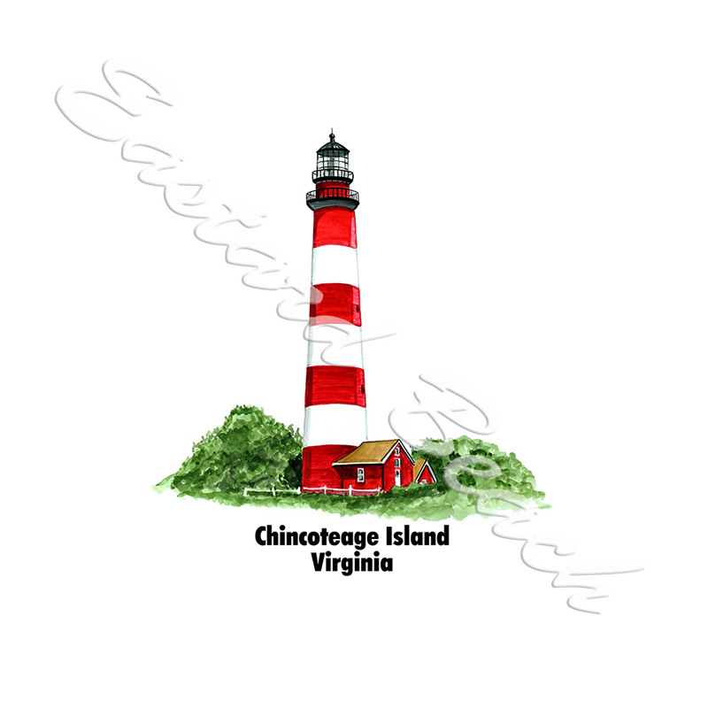 Assateague Lighthouse w/Name