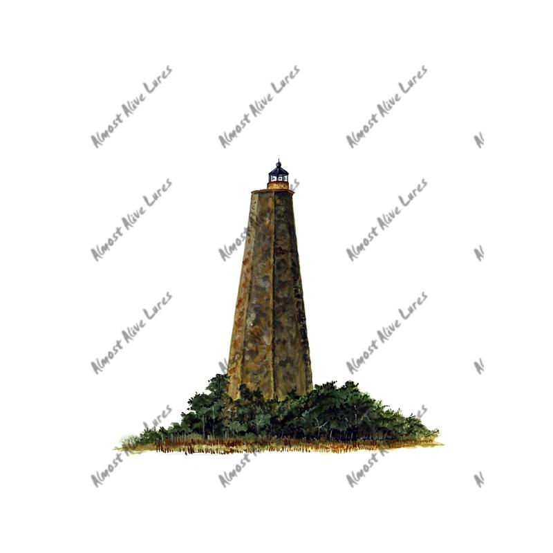 Bald Head Lighthouse - Printed Vinyl Decal
