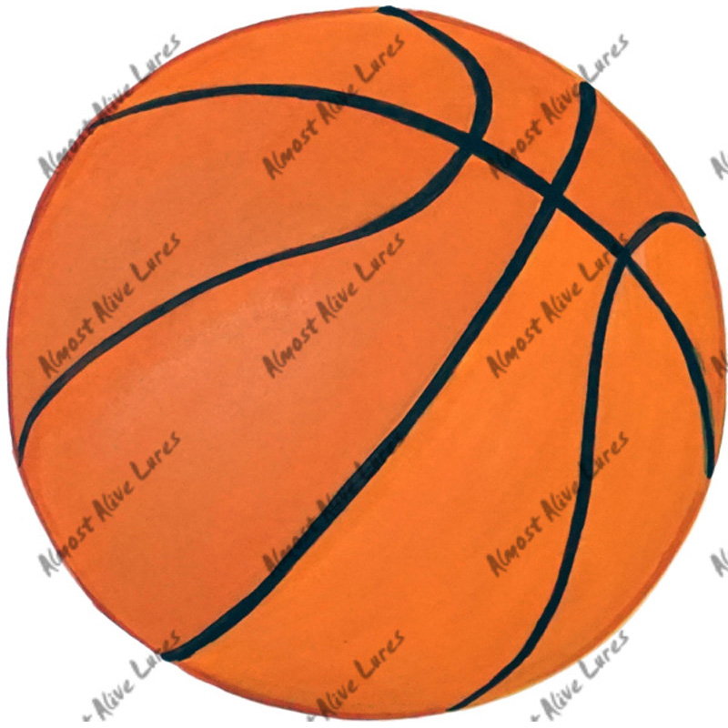 Basket Ball - Printed Vinyl Decal