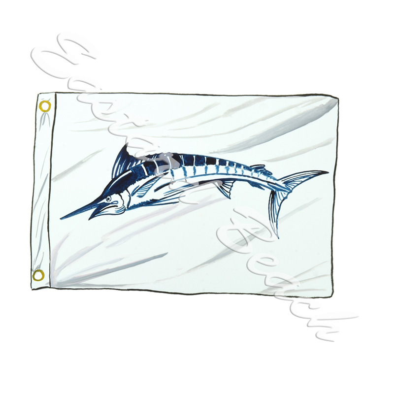 Blue Marlin Release Flag