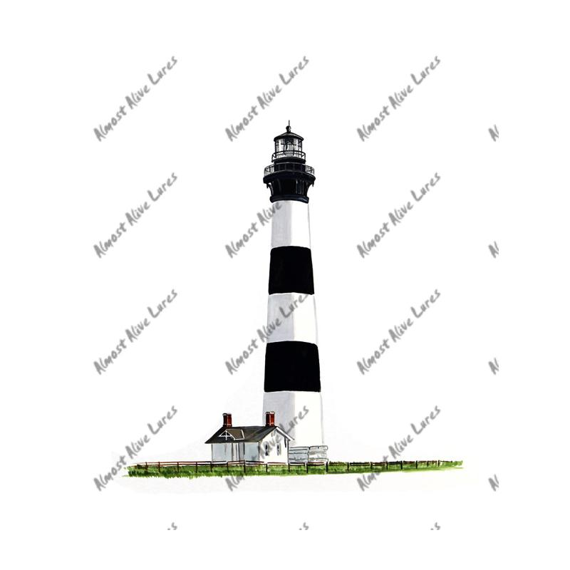 Bodie Island Lighthouse - Printed Vinyl Decal