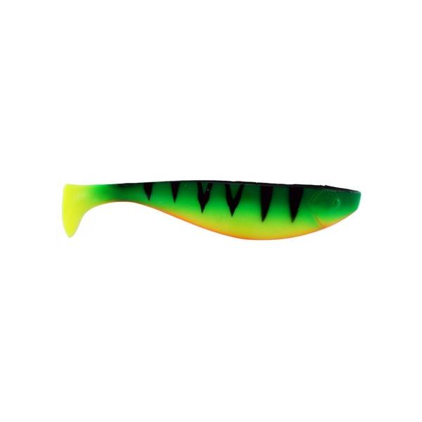 "Almost Alive 9"" Soft Shad Paddle Tail Bait Fluoro Green Tiger"