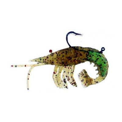Almost Alive Lures 3 Pack Soft Curly Tail Shrimp Rigged Yellow