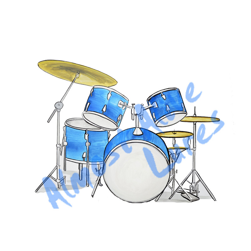 Drums - Printed Vinyl Decal
