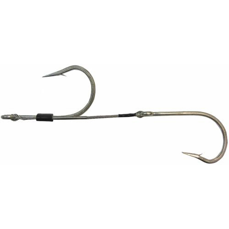 Eagle Claw Double Hook Set Wm1020 Hooks 480lb Ss Cable