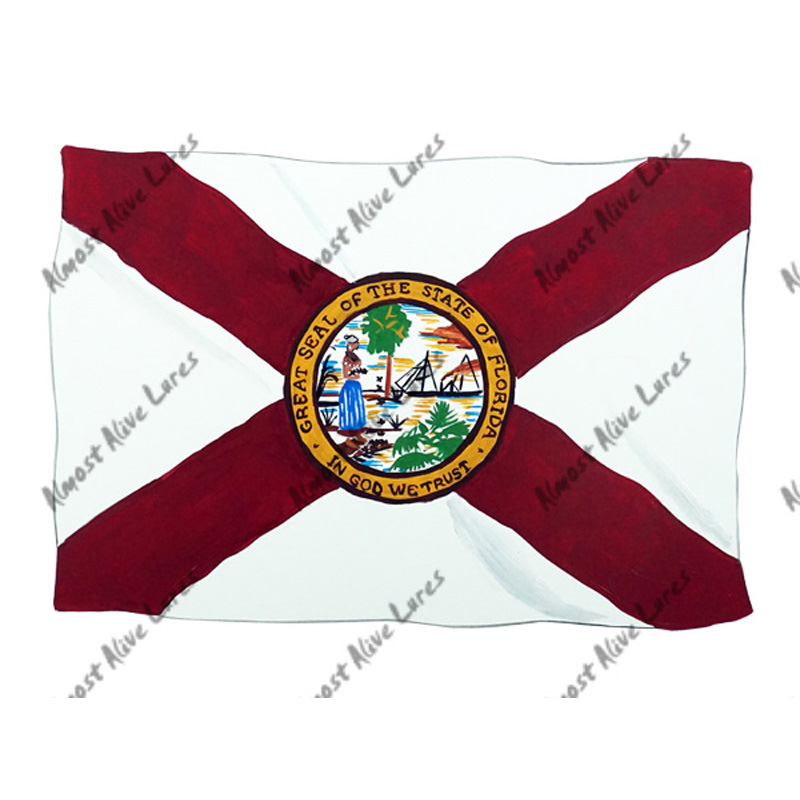 Florida Flag - Printed Vinyl Decal