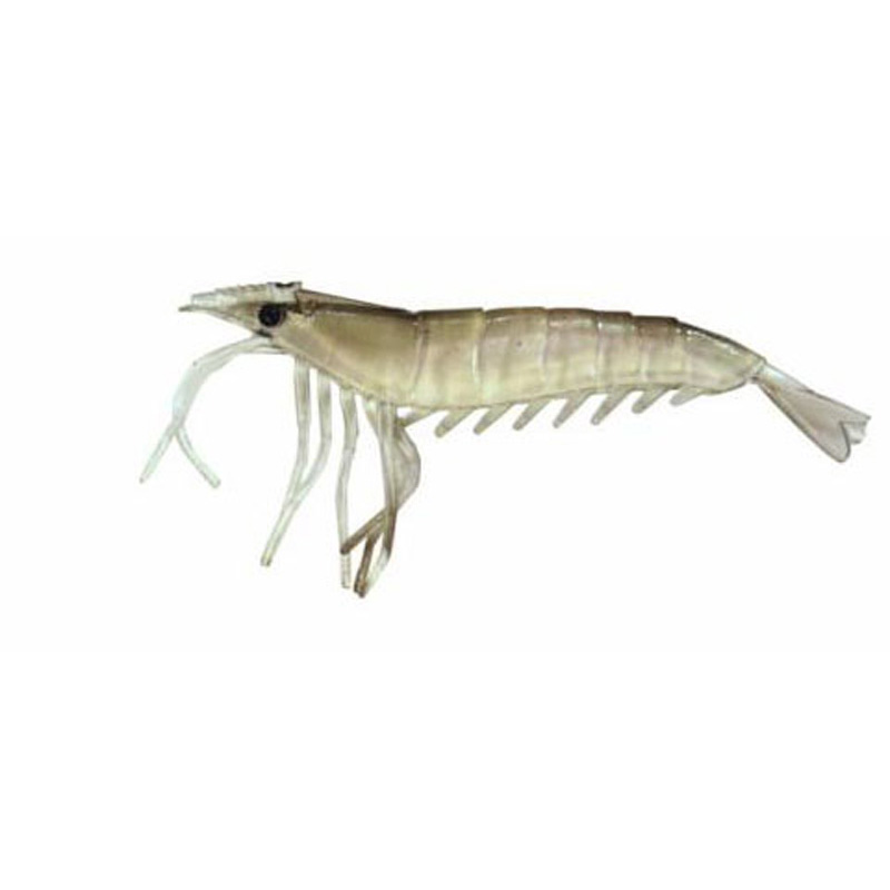 "Almost Alive 6 Pack 3.25"" Soft Shrimp Prawn Lures Black Unrigged"