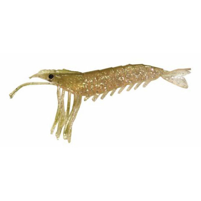 "Almost Alive 6 Pack 3.25"" Shrimp Prawn Lures Natural Unrigged"