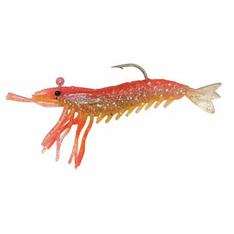 "Almost Alive 3 Pack 3.25"" Shrimp Pink Yellow Rigged & Weighted"