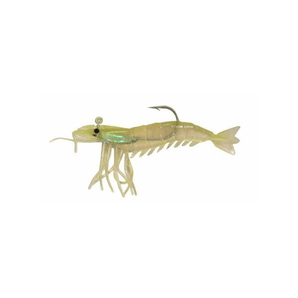 "Almost Alive 3 Pack 3.25"" Shrimp Soft Chartreuse Rigged Weighted"