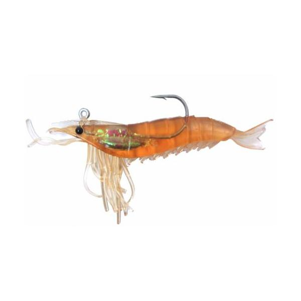 "Artificial Shrimp Rigged 3-1/4""Rootbeer 6 Pack - Almost Alive Lu"