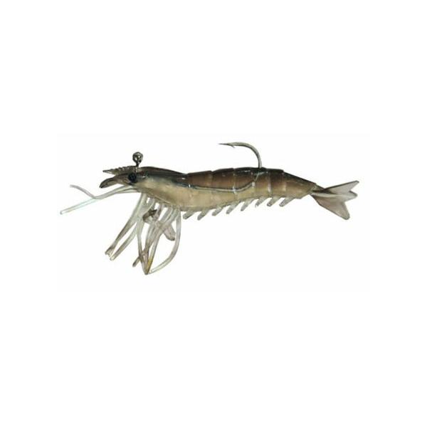 "Almost Alive 3 Pack 3.25"" Soft Shrimp Prawn Lures Black Rigged"