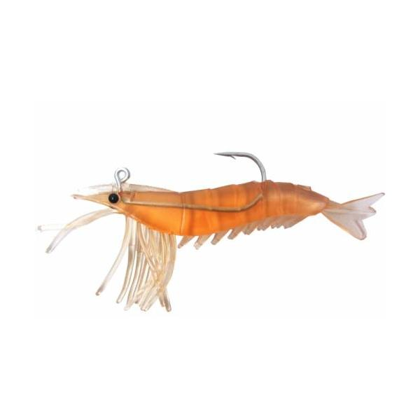 "Almost Alive 6 Pack 3.25"" Shrimp Prawn Lures Rootbeer Rigged"
