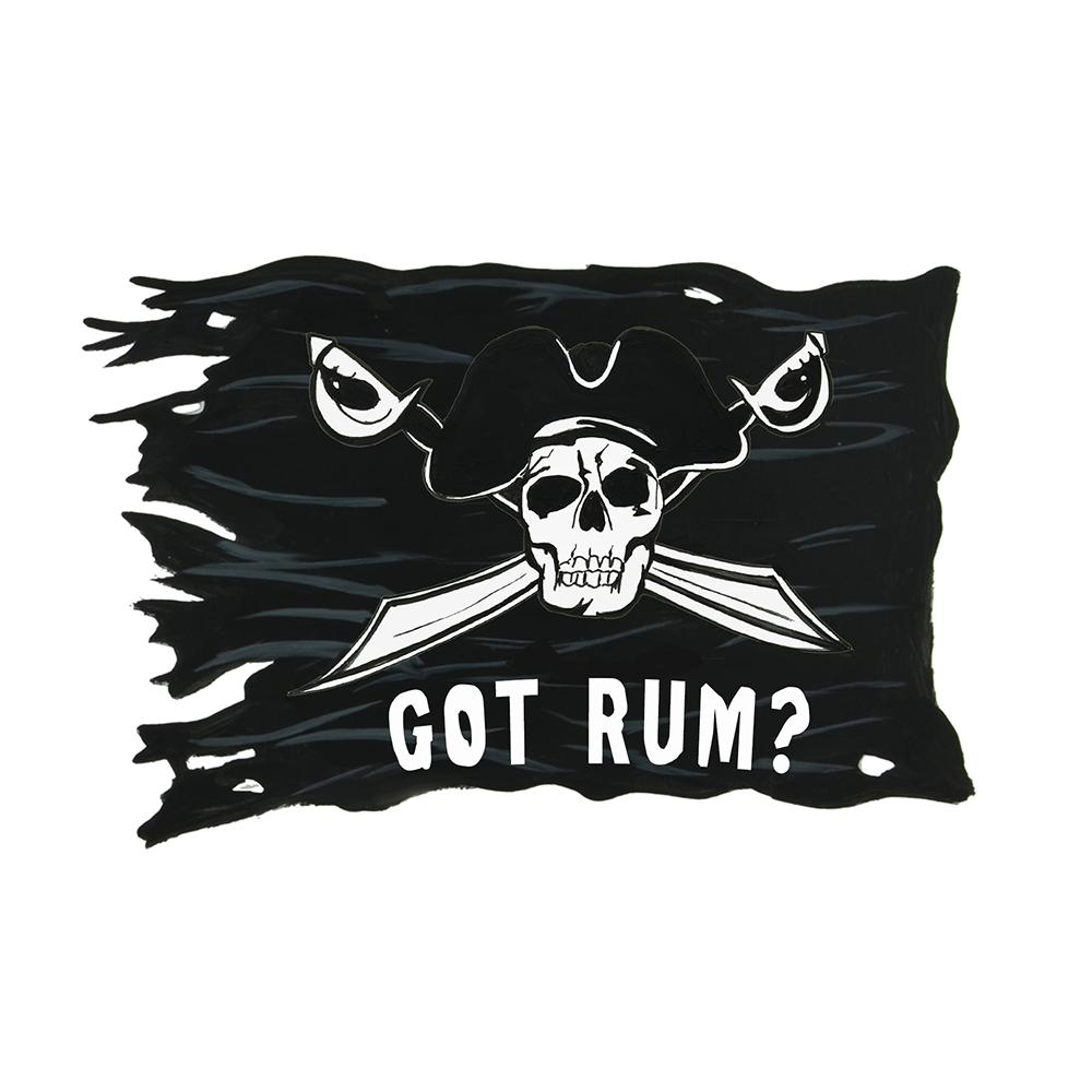 """Got Rum?"" - Pirate Flag"