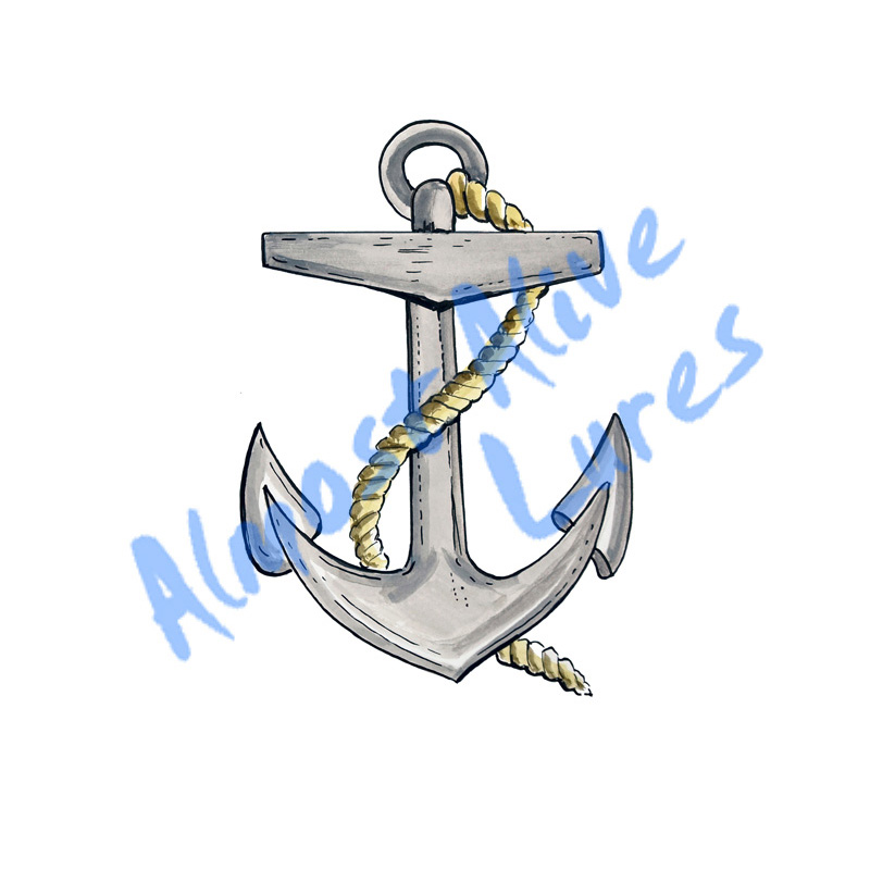 Grey Anchor - Printed Vinyl Decal