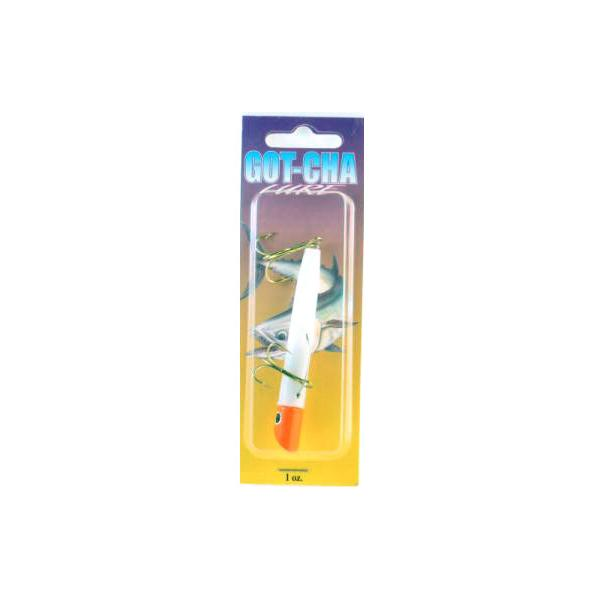 "Gotcha G101gh Lure White Plastic 3"" 1oz Red Head Gold Hook"