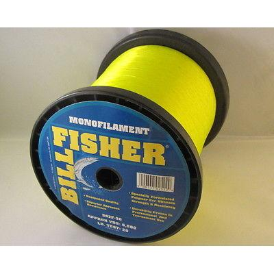 Billfisher Ss2f-20 Mono 2lb 20lb 6800yds Fl Yellow