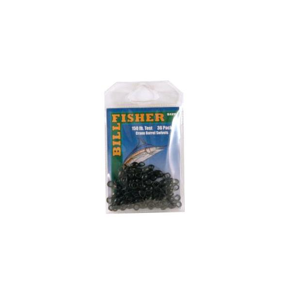 Billfisher R1gb Barrel Swivel Blk Sz1 150lb Test 36pk