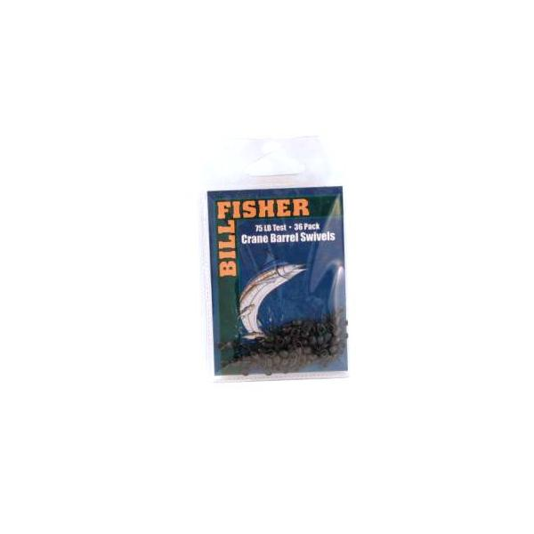 Billfisher R7gb Barrel Swivel Blk Sz7 75lb Test 36pk