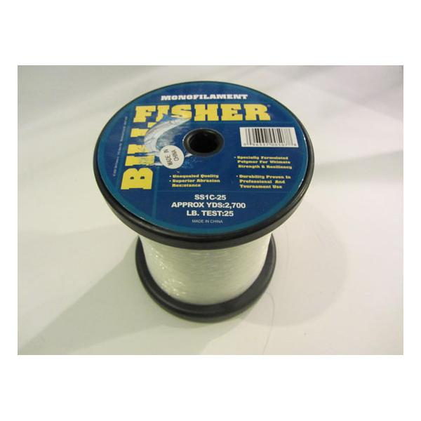 Fishing Line Billfisher Monofilament 25lb Test 2700yds Clear