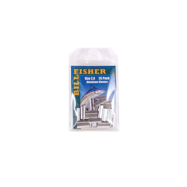 Billfisher 2.0al-25 Aluminum Single Sleeve 250-300lb 25pk