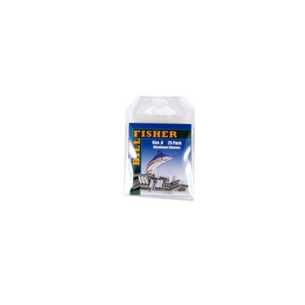 Billfisher .8al-25 Aluminum Single Sleeve 50-60lb 25pk