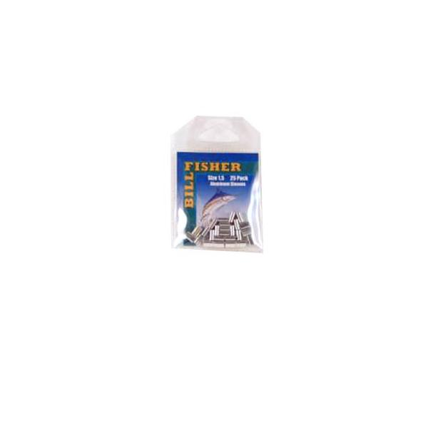 Billfisher 1.5al-25 Aluminum Single Sleeve 125-150lb 25pk