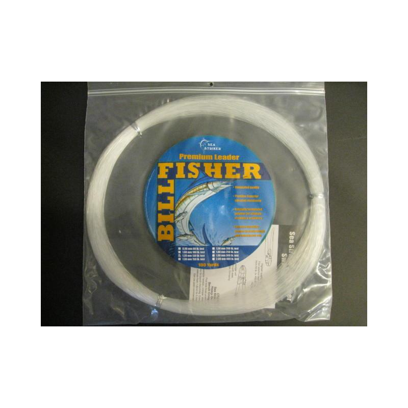 Billfisher 130lb 100yds Clear 1.20mm Lc100-130 Mono Leader