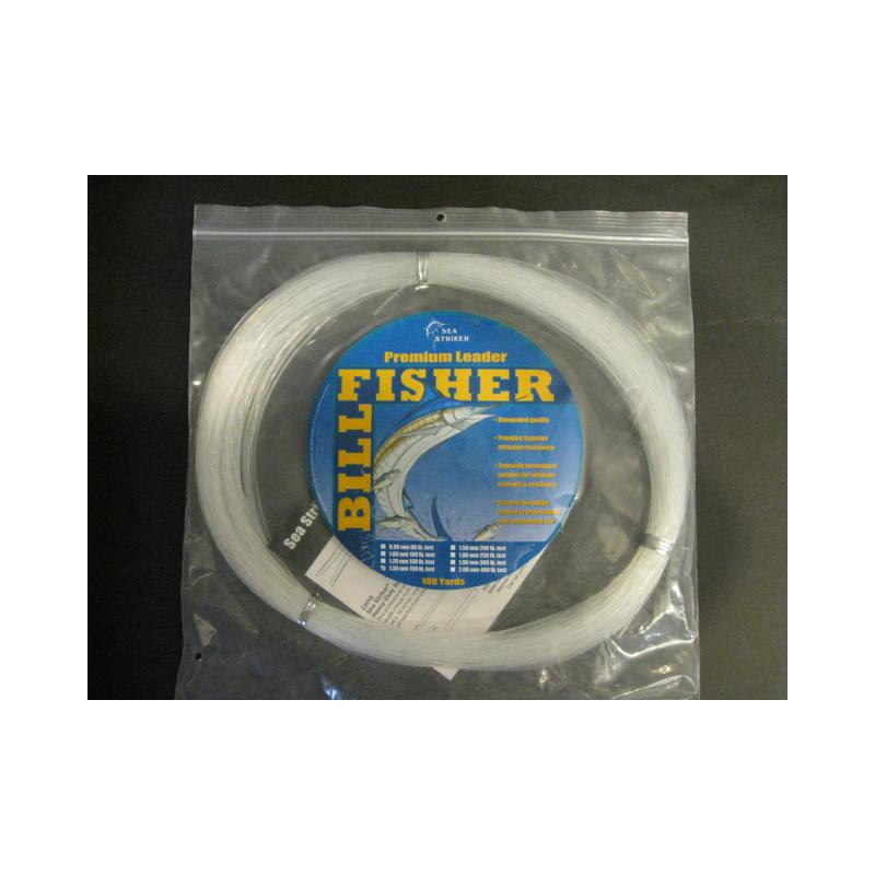 Billfisher 150lb 100yds Clear 1.3mm Lc100-150 Mono Leader
