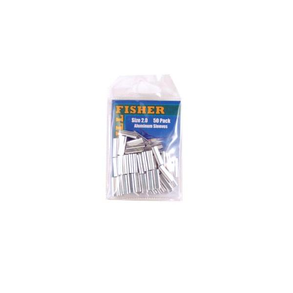 Billfisher 2.0al-50 Aluminum Single Sleeve 250-300lb 50pk